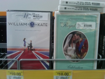 Just part of Walmart's new Wedding DVD section